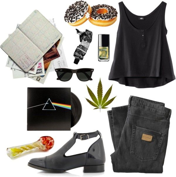 """""""chain smoker"""" by clarakippelen ❤ liked on Polyvore"""