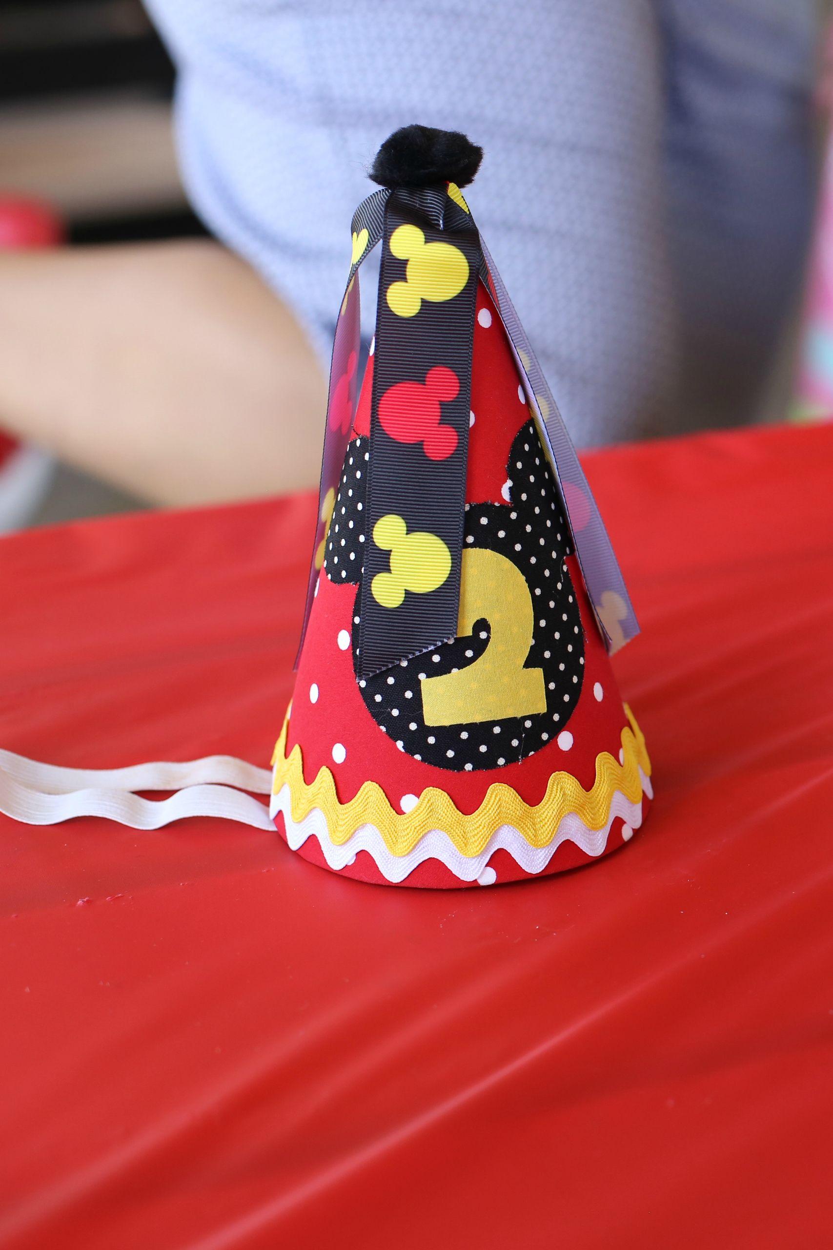 Alejandra's 2nd Birthday  - Mickey Mouse Clubhouse - Birthday Hat