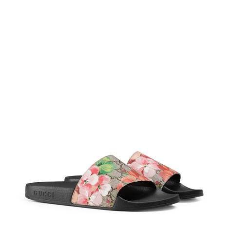 ed9613e8d64 GG Blooms Supreme slide sandal