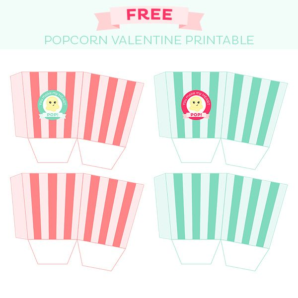 free popcorn valentine treat box printable freebies mygraficocom