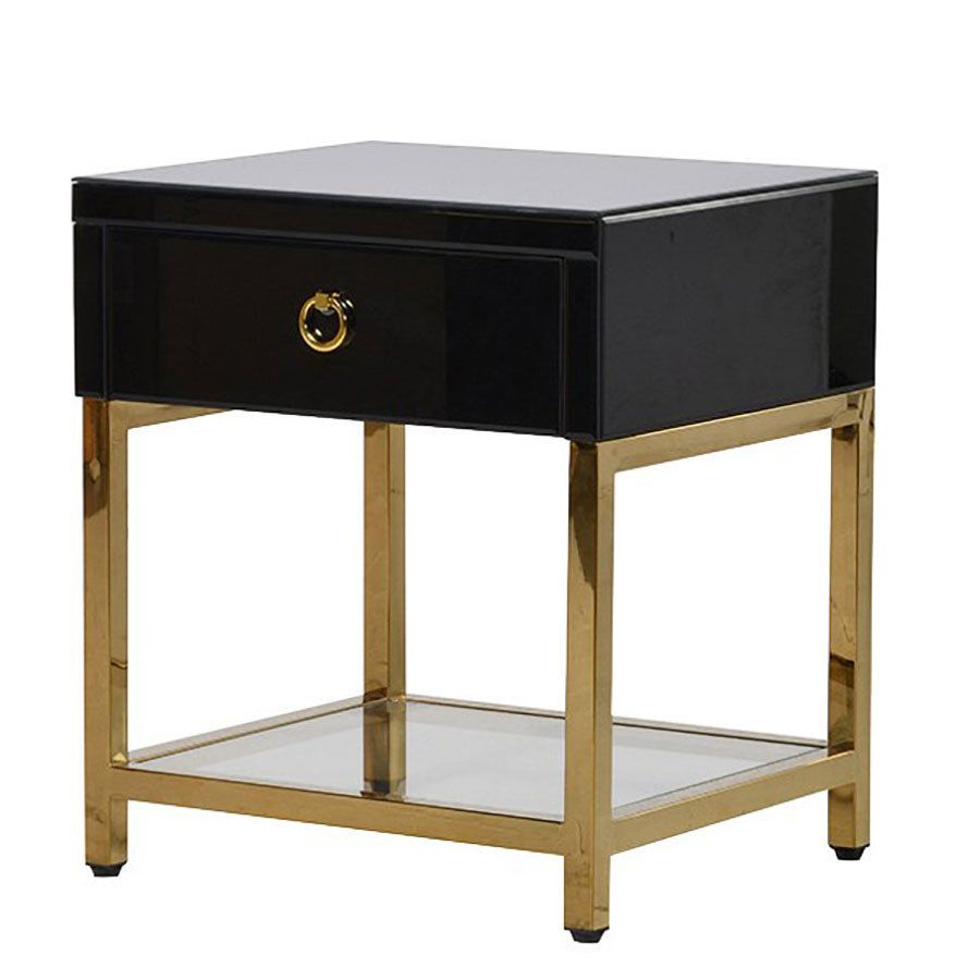 Bedroom Black And Gold Bedside Table Small Bedside Table