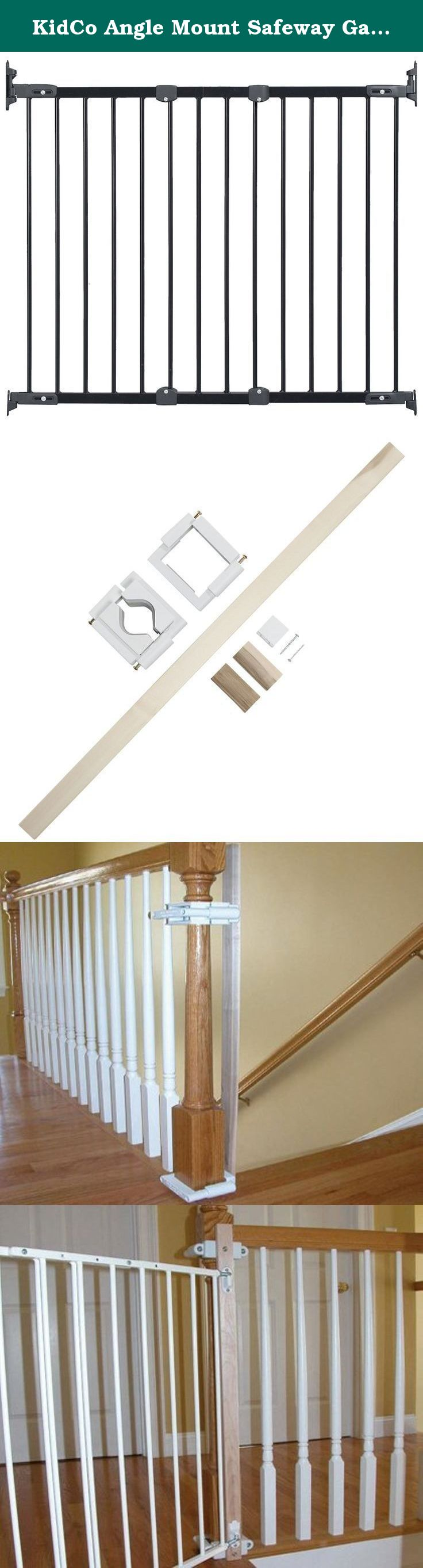 KidCo Angle Mount Safeway Gate   Black (Metal)   To With Stairway  Installation Kit