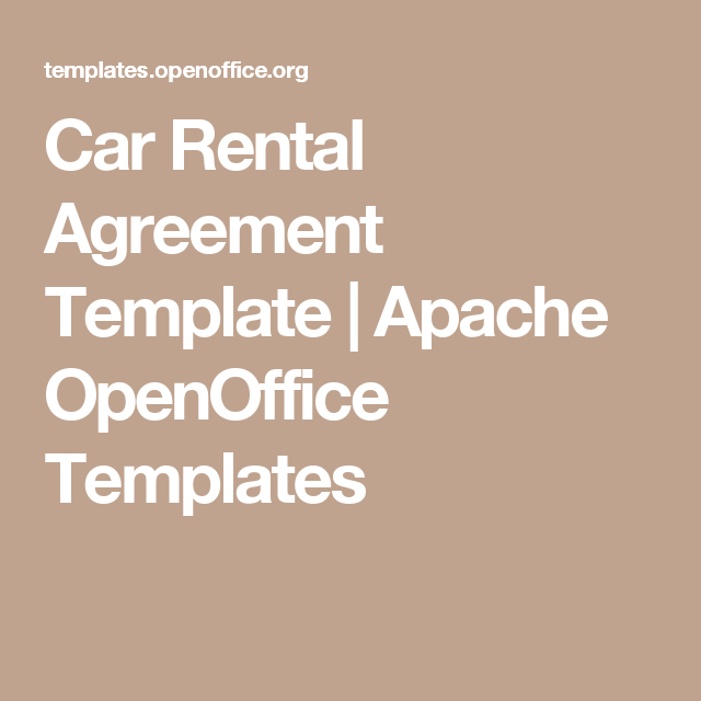 Car Rental Agreement Template  Apache Openoffice Templates