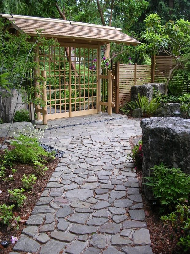 Photo of Nobedan stone path building tips from the Portland Japanese Garden