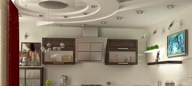 False ceiling pop designs with LED ceiling lighting ideas for living