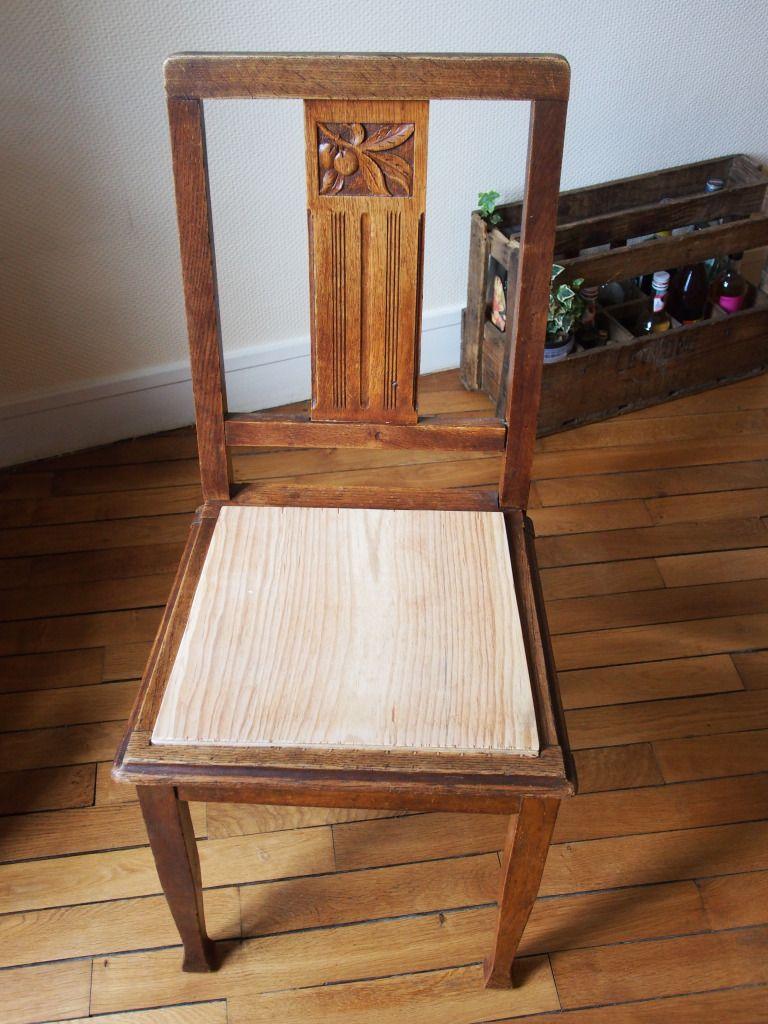 Tuto Restauration De Chaise Relooking De Chaise Assise De Chaise Chaise Art Deco