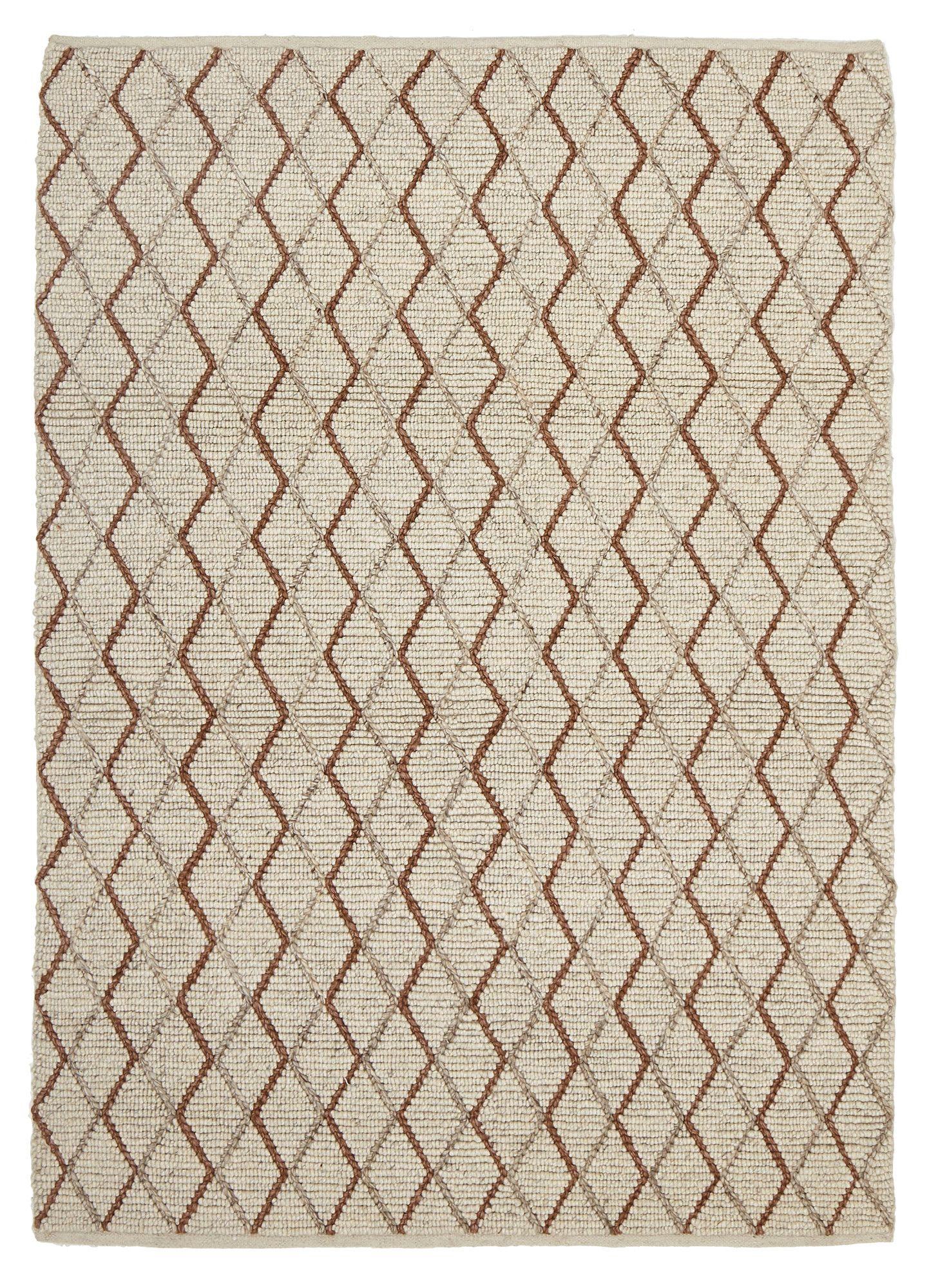 Network Finn Scandinavian Style Viscose and Wool Copper