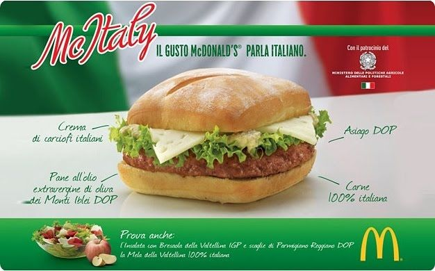 Mcdonald S Serving Locally Sourced Burger In Italy Burger Italian Burger Mcdonalds