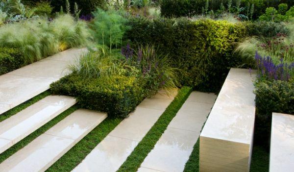 bilder beispiele modern gartengestaltung beton platten, Garten dekoo