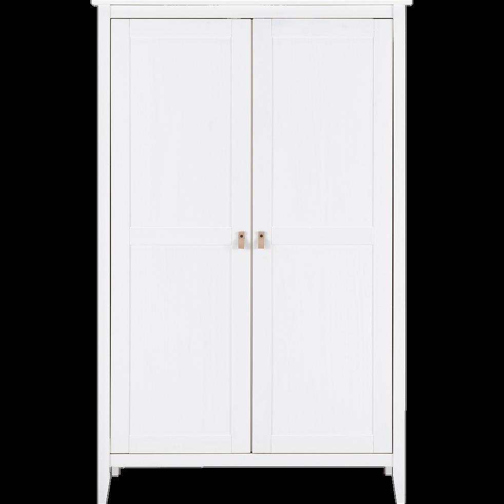 Armoire 2 Portes Avec Structure Et Facade En Pin Massif Blanc Lison Armoires Alinea Armoire 2 Portes Pin Massif Armoire