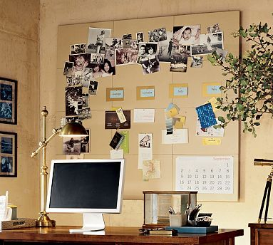 office pinboard. consider linen pinboards like this for office pinboard i