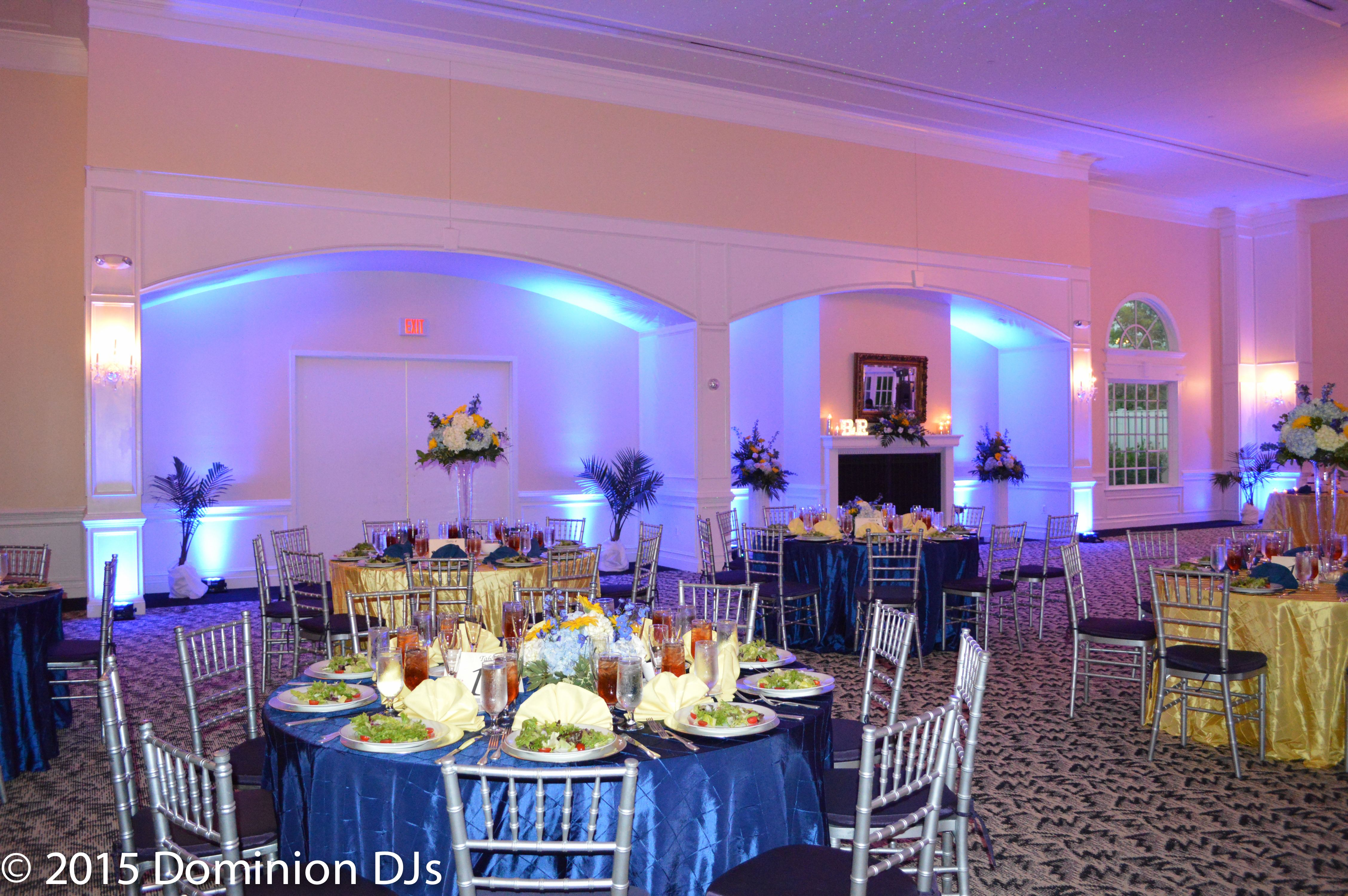 Blue Up Lighting At Foxchase Manor In Manassas Va Www