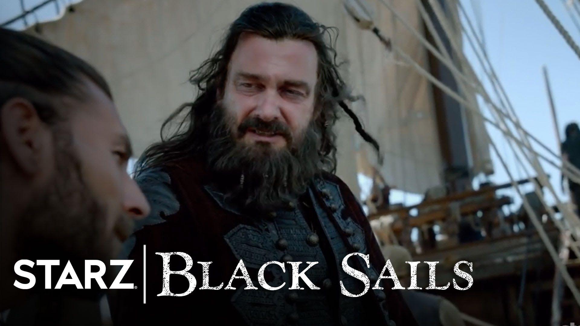 Black Sails   Ep. 305 Clip: The Lion Has No Den   STARZ. I LOVE Ray Stevenson and Zach McGowan's voices!!! <3