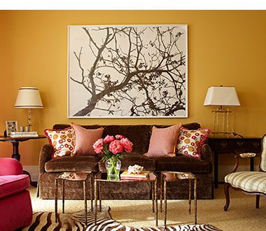 Living Room Orange Walls yellow brown & green living room - google search | neutral earth