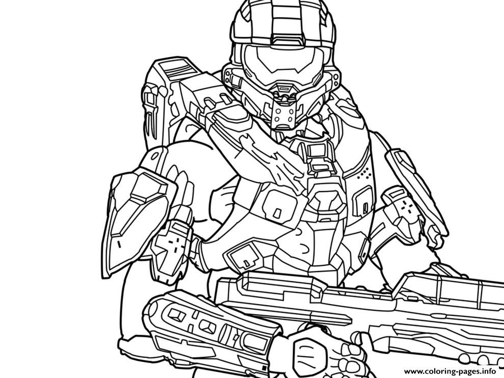 coloring pages halo # 1