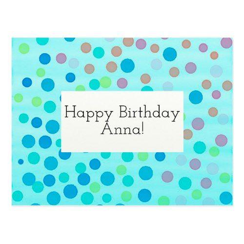 Customizable Happy Birthday Card confetti on blue Confetti - confeti