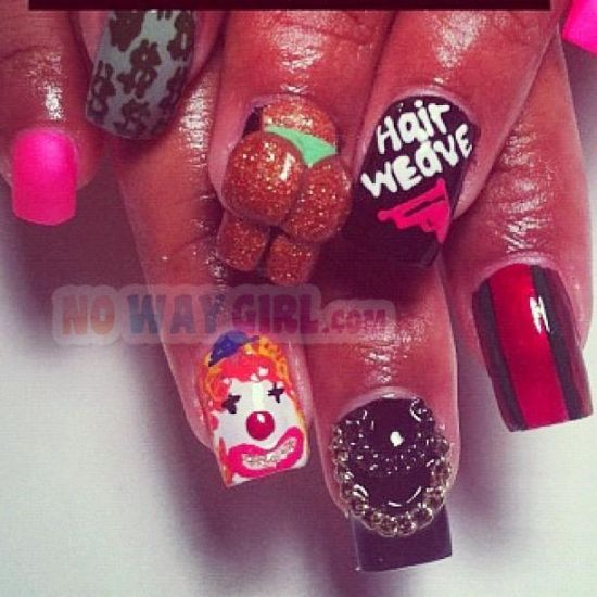 1000+ ideas about Ghetto Nail Designs on Pinterest