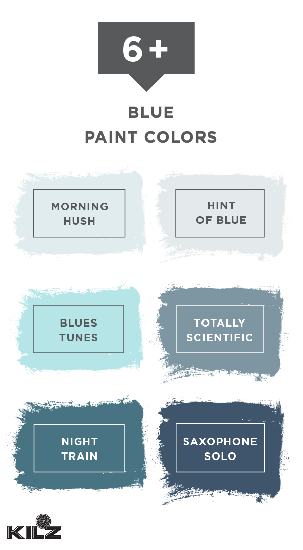 We Re Blown Away By This Collection Of Blue Paint Colors From Kilz Complete Coat Paint Primer I Blue Paint Colors Farmhouse Paint Colors Walmart Paint Colors