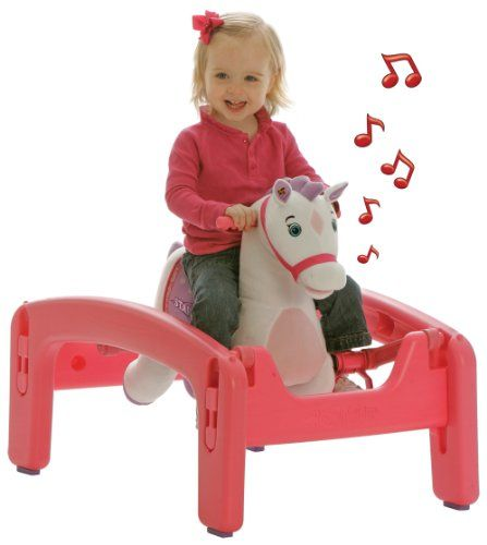 Tek Nek Rockin' Rider Starlight Grow-with-Me Pony - Animated Plush Rocker and Spring Horse