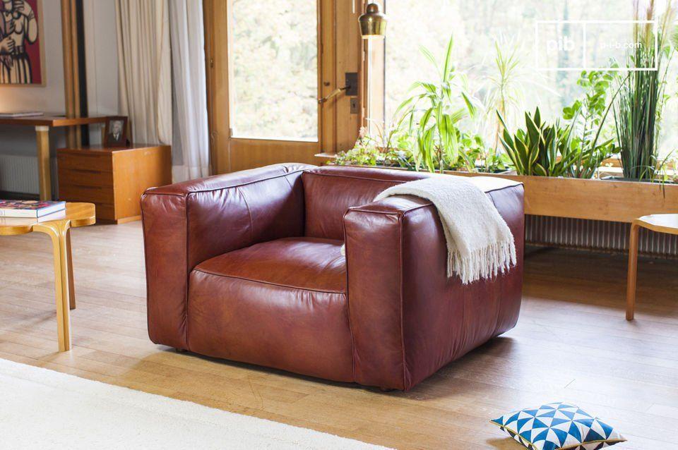 Poltrona vintage Krieger Armchair, Comfortable sofa