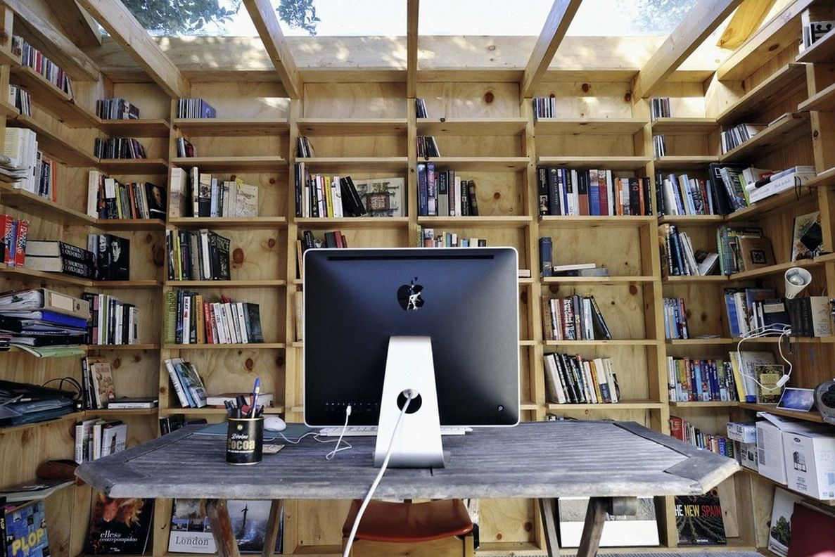 outdoor office space. Hackney Shed, Low Budget Garden Working Studio: Office Space With The Glass Roof In Shed By Sian Architecture Outdoor