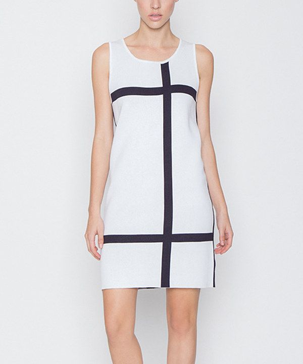 Look at this Off-White Lattice Shift Dress on #zulily today!