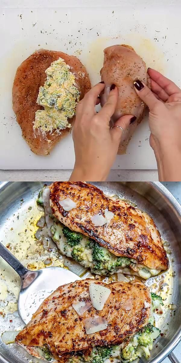 CHEESY BROCCOLI STUFFED CHICKEN BREAST -  You are in the right place about decor inspiration  Here we offer you the most beautiful pictures a -