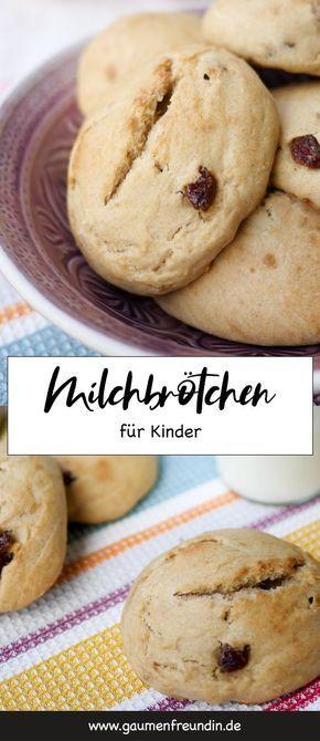 Gesunde Milchbrötchen für Kinder mit Dinkelmehl und Apfelmark