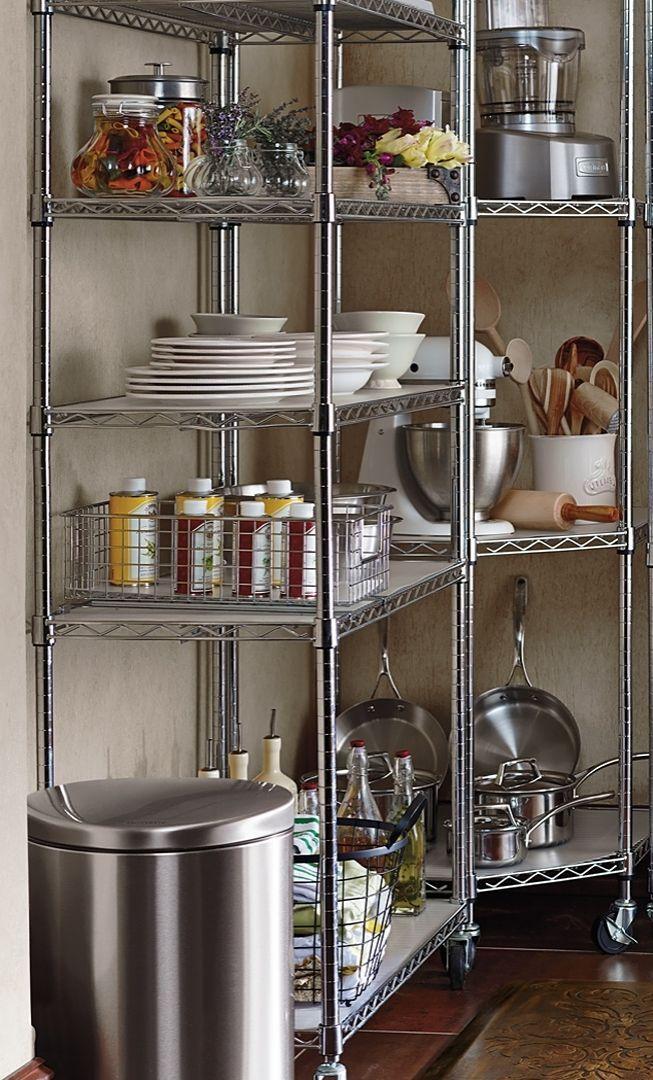 Chrome Pantry Shelving Frontgate Pantry Shelving Kitchen Design Interior Design Kitchen Small
