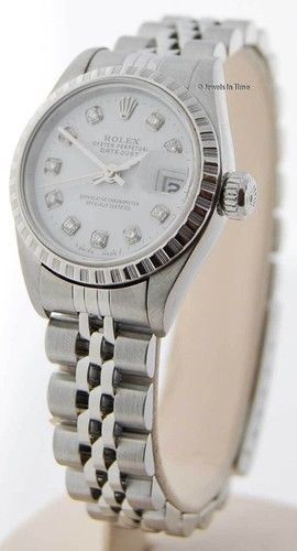 Rolex Womens Datejust 79190 Stainless Steel Automatic Watch Diamond Dial