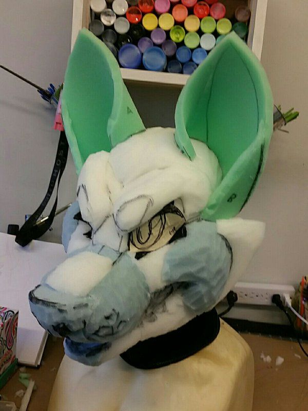 Making A Clay Dog Nose For A Fursuit