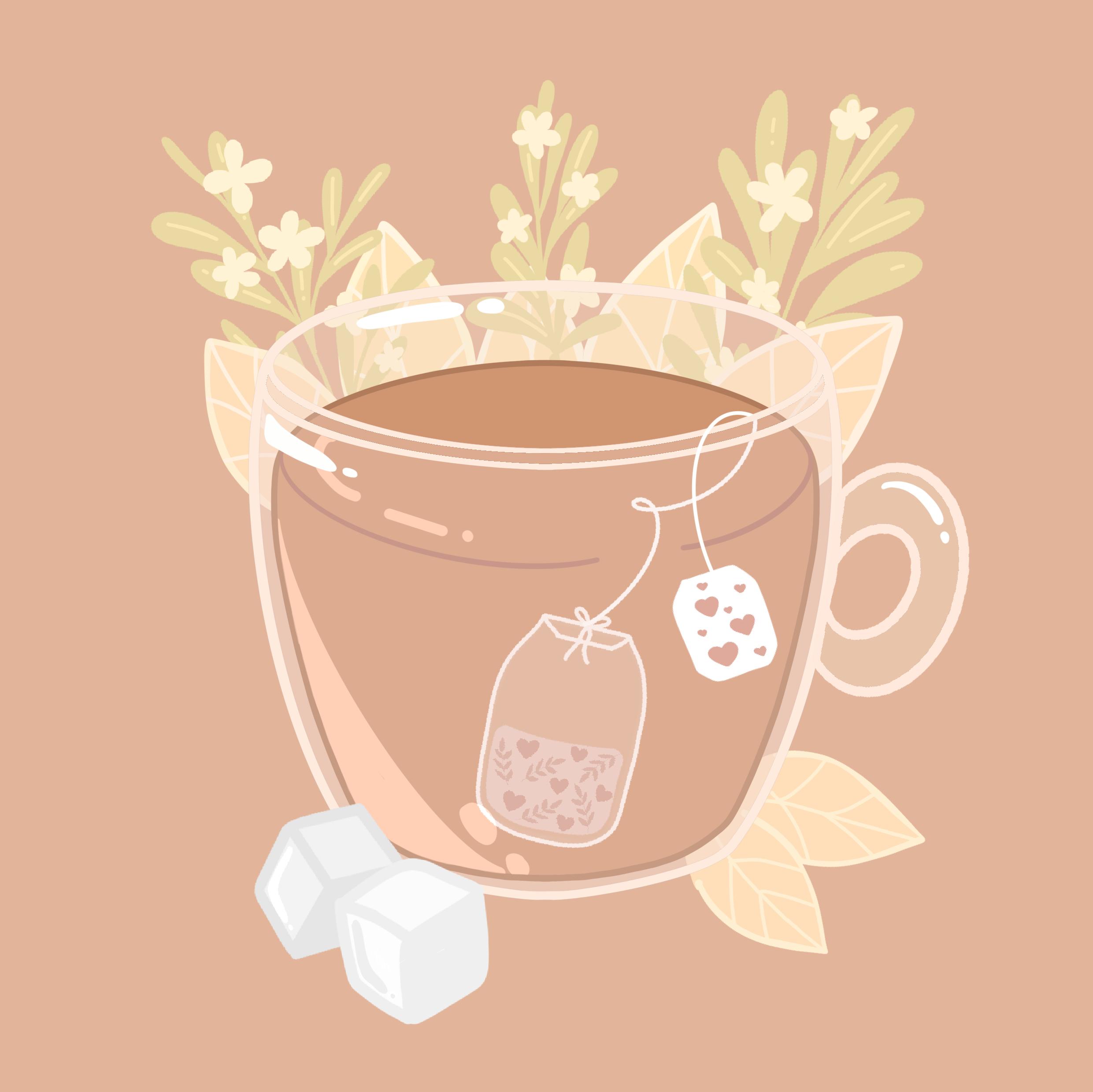 Photo of Love Tea Illustration