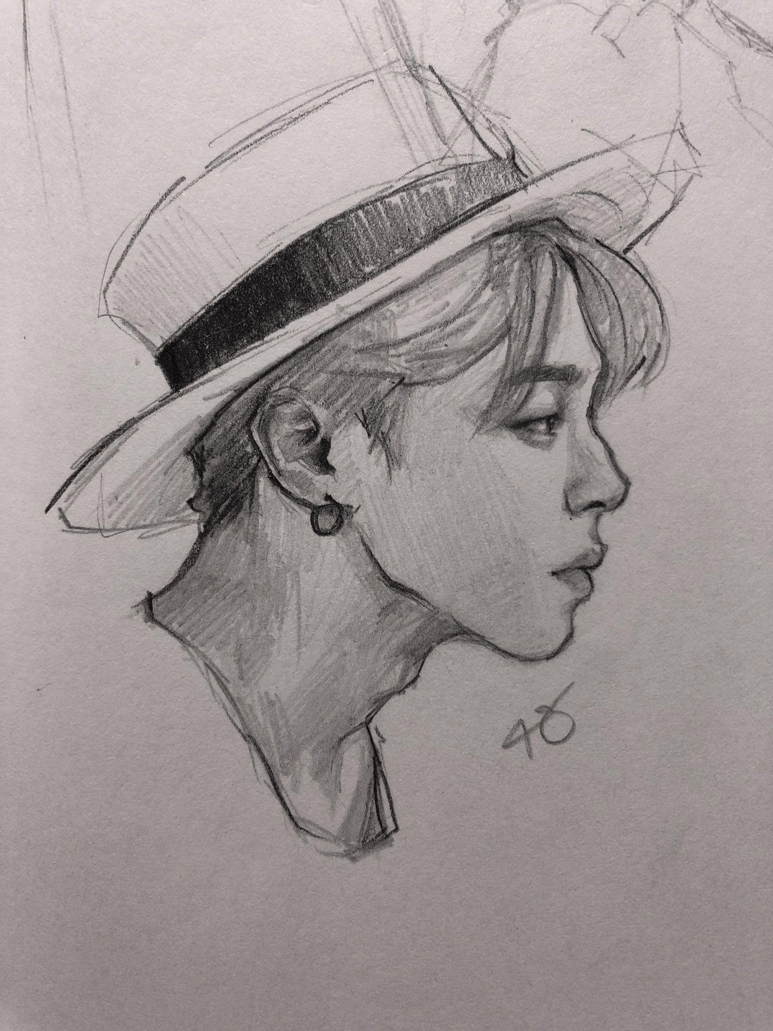 On Twitter Bts Drawings Bts Fanart Kpop Drawings