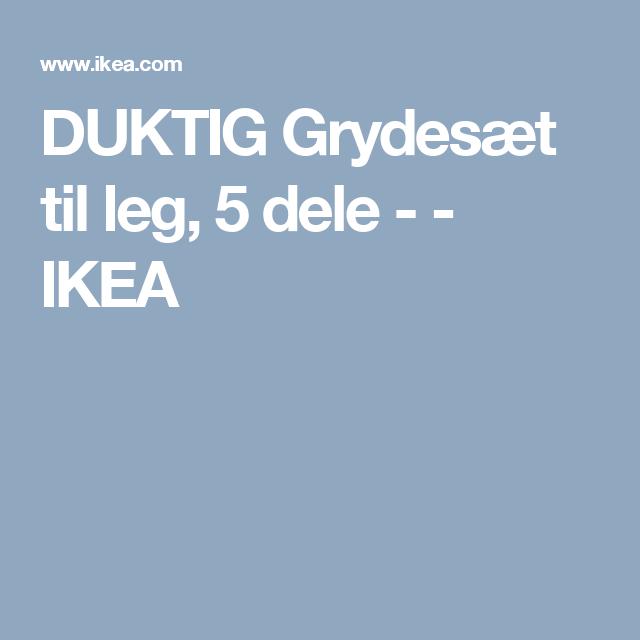 DUKTIG Grydesæt til leg, 5 dele -    - IKEA