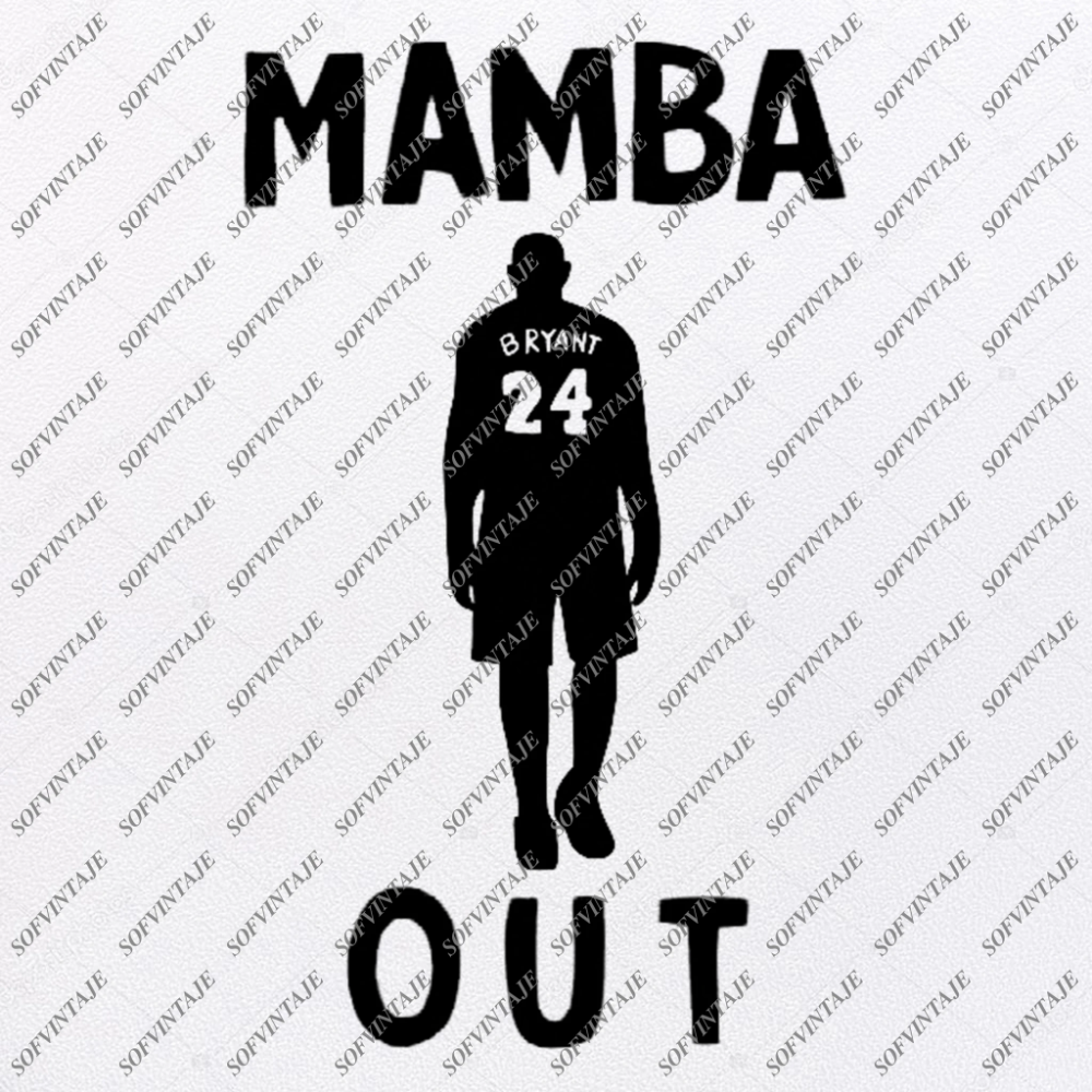 Kobe Bryant Svg Los Angeles Lakers SvgMamba Out SvgKobe