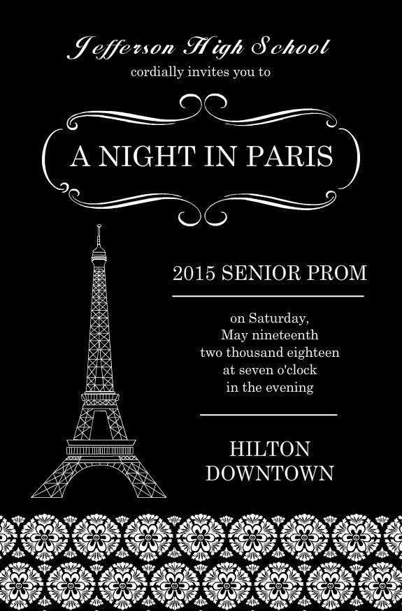 Doc550550 Prom Invitation Templates Prom Invitation Templates – Prom Invitation Templates