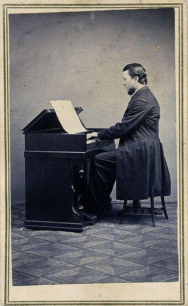 Young Man Playing Piano Civil War Era