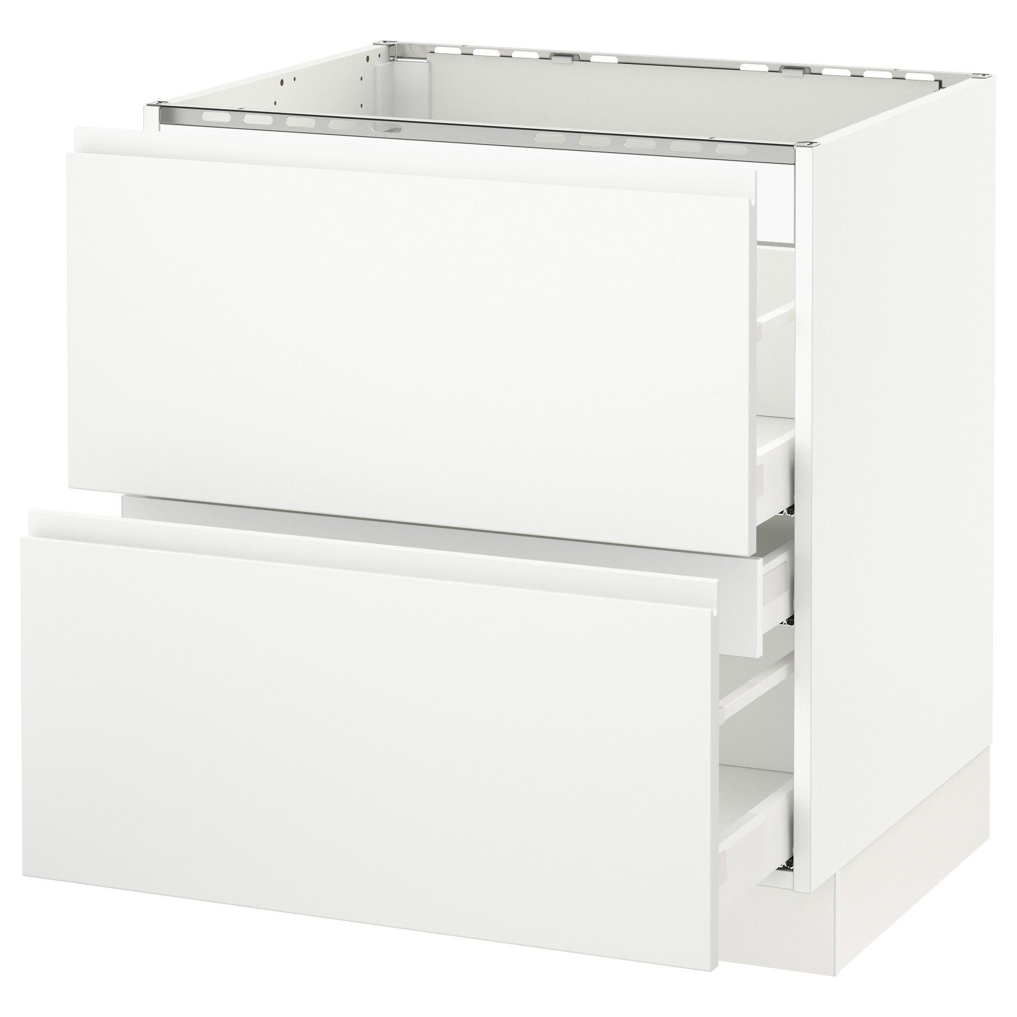 IKEA SEKTION white Base f/cooktop w/3 drawers