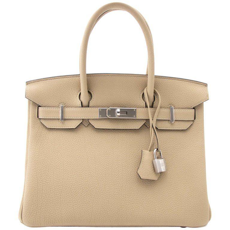 069d0ca908d3 Hermès - Birkin 30cm Trench Togo Palladium Hardware Birkin Bag ( 22