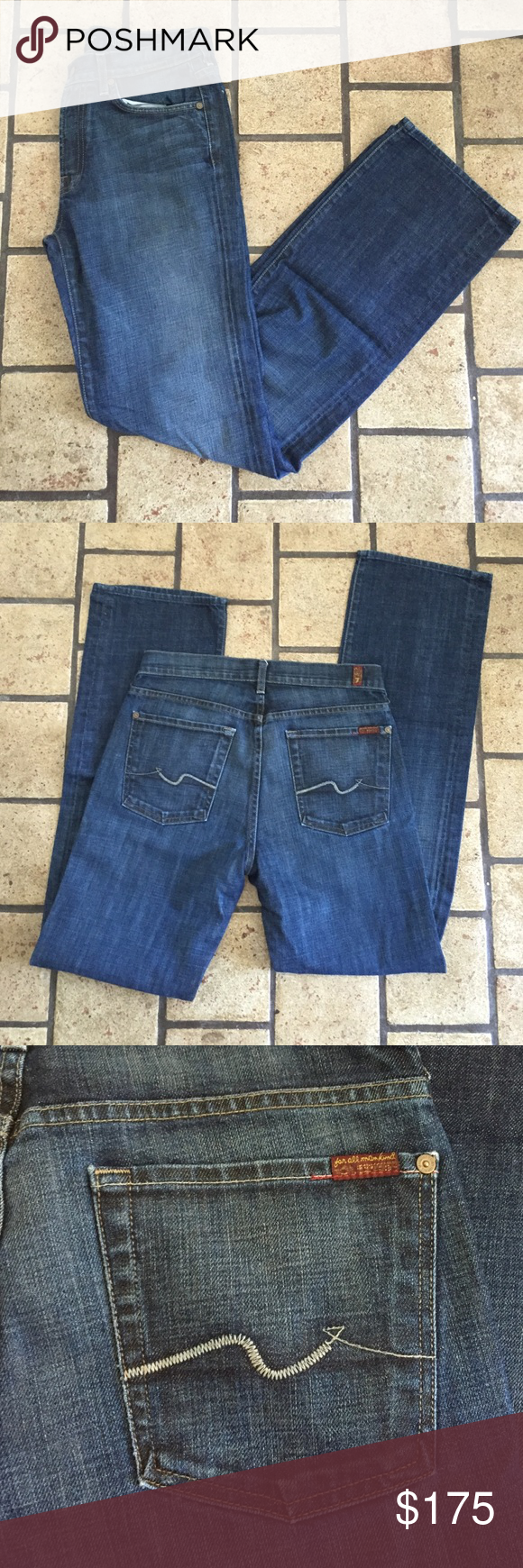Men's 7 For All Mankind jeans Barely worn, if ever. Like new! Length is 33. 7 For All Mankind Jeans Straight