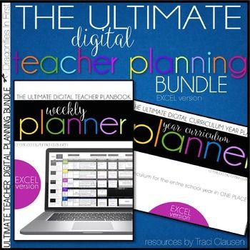 Teacher Planner Templates EDITABLE & Year Plan BUNDLE - Excel & Google Sheets #teacherplannerfree