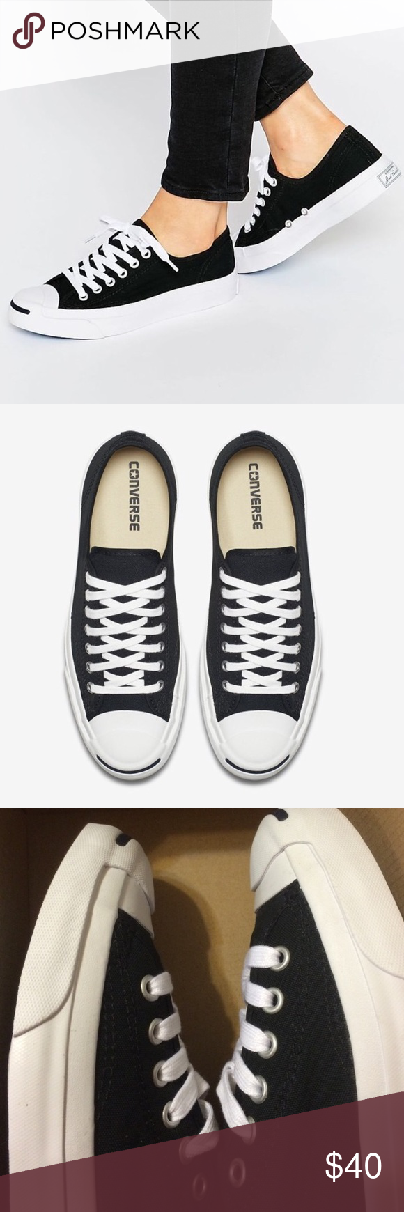 feadfe976a78 ... Converse jack Purcell shoes womens black PRODUCT DETAILS Plimsolls by  Converse Supplier code 1Q699 Canvas upper ...