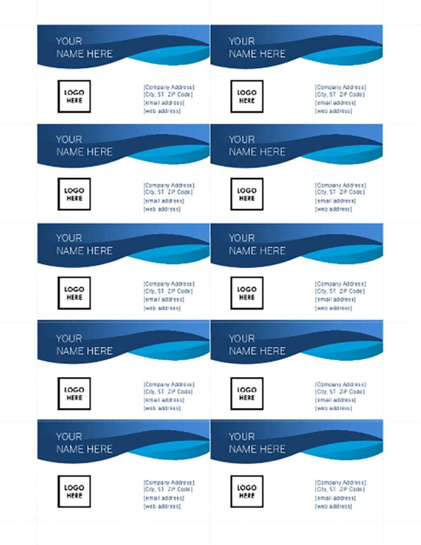 25 Free Microsoft Word Business Card Templates Printable Within Free Blan Card Templates Printable Free Business Card Templates Free Printable Business Cards