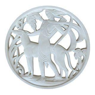 Art Nouveau Plaster Wall Medalion