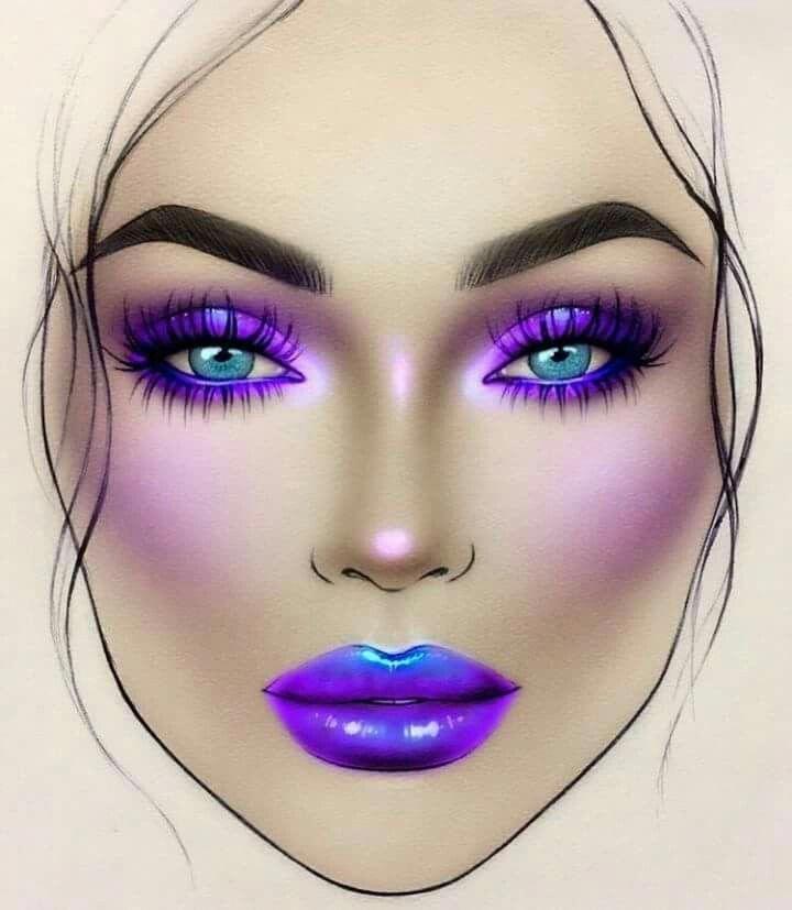 Great mac makeup tutorial #macmakeuptutorial - Makeup face charts, Makeup charts, Artistry makeup - 웹