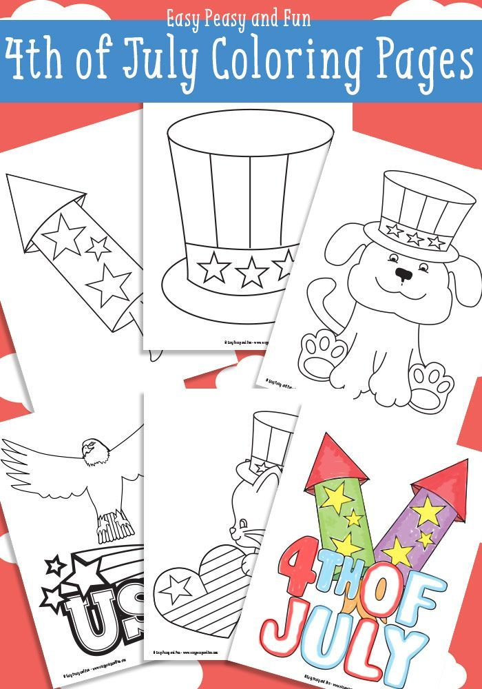 Free 4th Of July Coloring Pages July Colors Fourth Of July Crafts For Kids 4th Of July