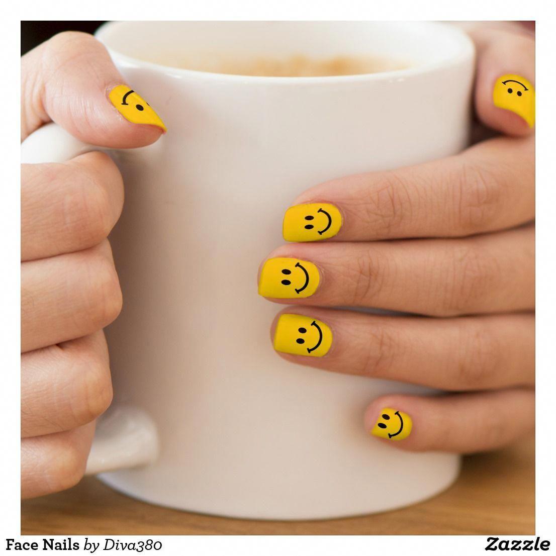 Face Nails Minx Nail Art | Zazzle.com