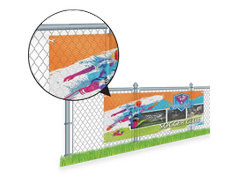 Mesh Banners Are Printed In Full Color On One Side Of 9 Mil Mesh With Sizes Ranging From 2 X 2 To 10 X 150 Discover Mor Mesh Banner Banner Printing Prints