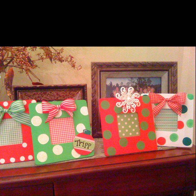 Hand Painted Christmas Picture Frame Crafts Craftsi Love