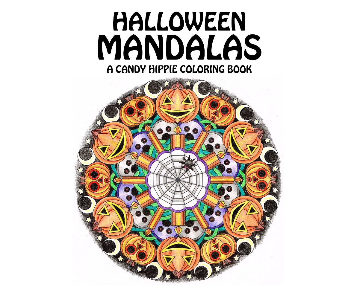 Halloween Mandalas Coloring Book